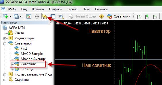 """Терминал MetaTrader 4 – установка """"скрипта"""", индикатора и """"советника"""" 7"""