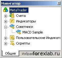 Элементы управления МТ4