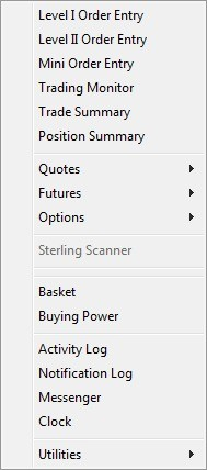 Торговая платформа Sterling Trader Pro 4